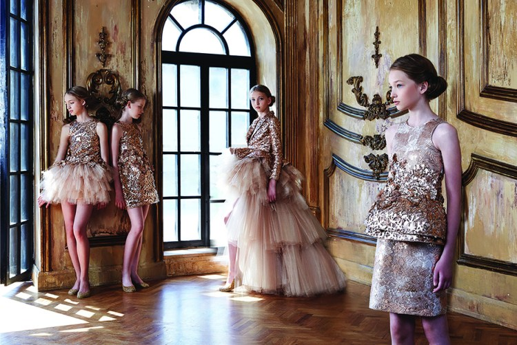 Mischka Aoki Spring Summer collection 2015_couture jurken voor kids_high end fashion_