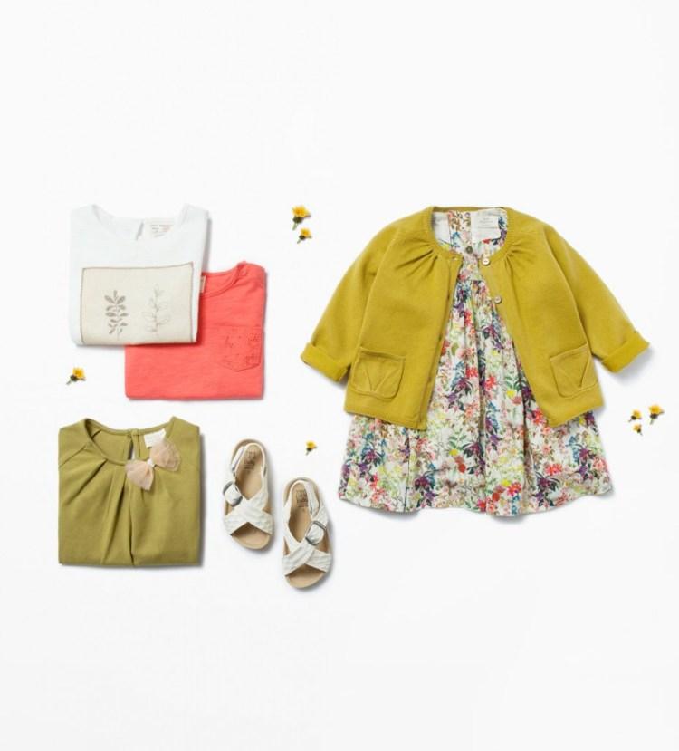 Zara Babymeisjes zomercollectie 2015- jurk met basic print