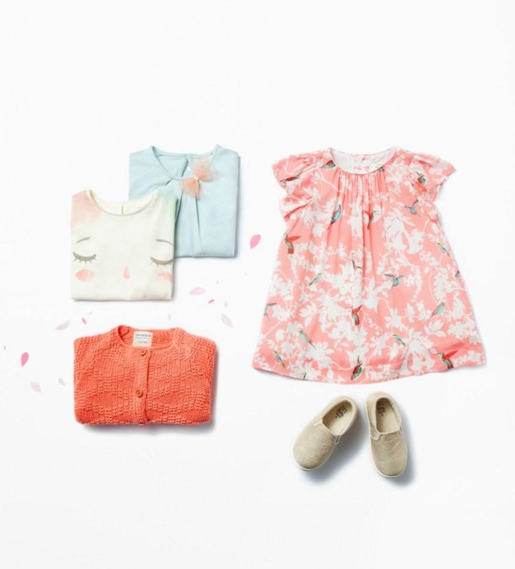 Zara Babymeisjes zomercollectie 2015_ jurk met vogelprint