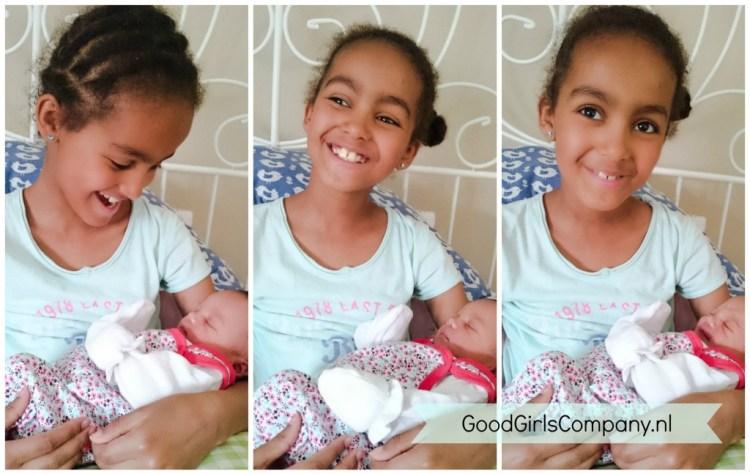 GoodGirlsCompany-geboorte miss C-Kennismaking tussen G en c-oudere broertjes en zusjes betrekken bij gezinsuitbreiding