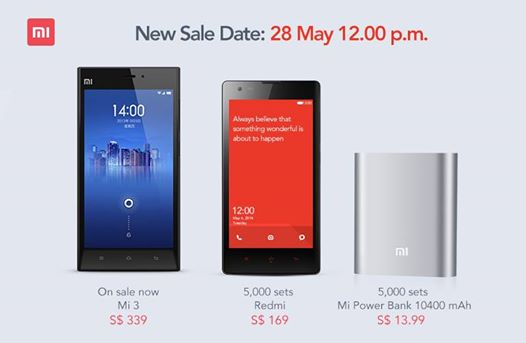 Xiaomi SG Devices on sale