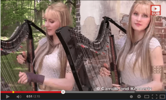 Identical Twins Camille and Kennerly plays Eletric Harps