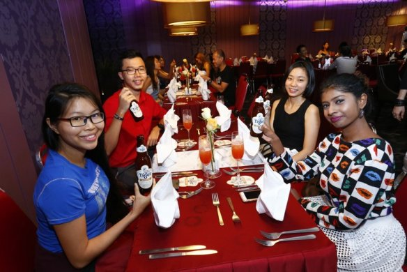 Guests before being served with three course meal at the lounge area of TGV Indulge, One Utama (2)