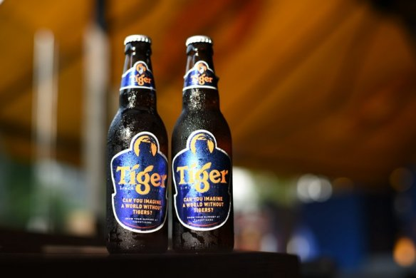 New packaging of Tiger Beer for Save The Tiger campaign
