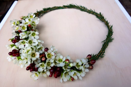 Waxflower crown