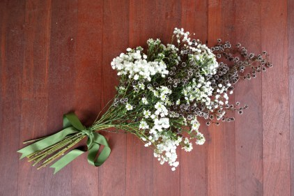 Baby's breath, Easter daisy & stirlingia bouquet