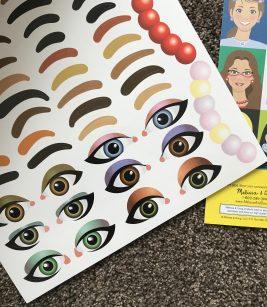 Add Eye and Eyebrow Stickers