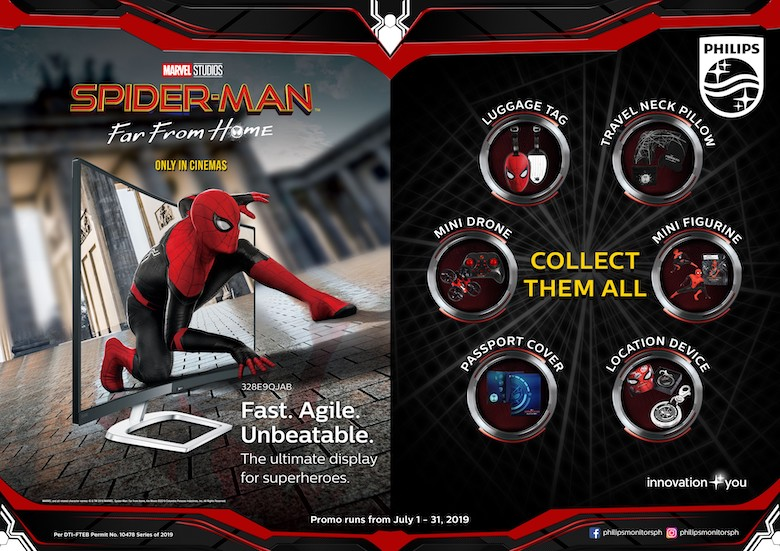Philips Monitors signs partnership with Sony Pictures' Spider-Man™: Far From Home   Good Guy Gadgets