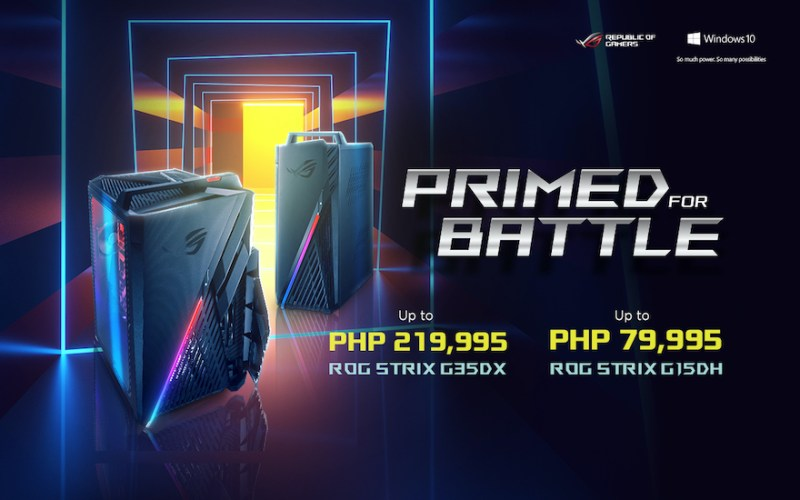 Official arrival of the long-awaited ROG Strix gaming desktops | Good Guy Gadgets