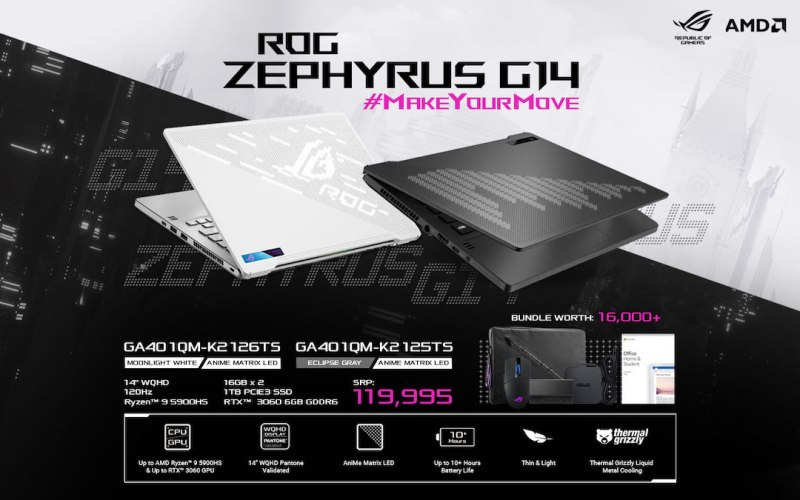 ROG Zephyrus 2021 Edition completes AMD Ryzen 5000 line, finally arrives in the Philippines | Good Guy Gadgets