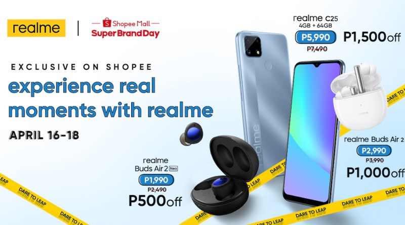 realme PH sets a new standard of reliability with the realme C25, initially available exclusively on Shopee | Good Guy Gadgets