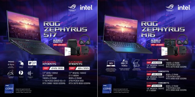 Republic Of Gamers Philippines officially announces the new Zephyrus and TUF Gaming lines powered by latest Intel® 11th generation CPUs   Good Guy Gadgets
