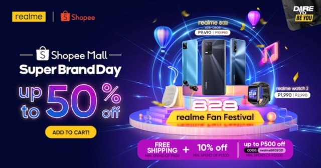 Get the biggest discounts and deals of up to 50% OFF in realme's Shopee Super Brand Day Sale   Good Guy Gadgets