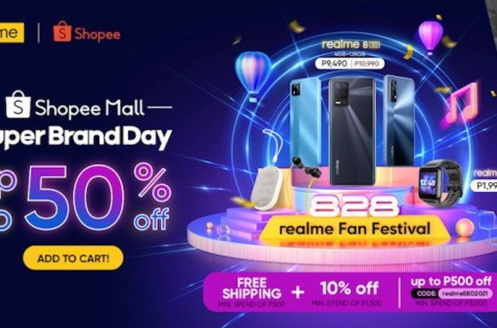 Get the biggest discounts and deals of up to 50% OFF in realme's Shopee Super Brand Day Sale | Good Guy Gadgets