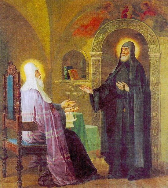 St. Sergius refusing the episcopal rank