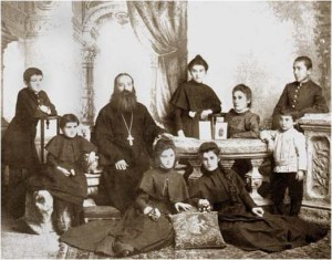 A 19th century Georgian Orthodox priest's family.  From  The Georgian Association for the History of Photography in the Caucasus