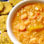 Asopao de Camarones - How to Make Shrimp and Rice Soup with Tostones (Recipe Dominican Style)
