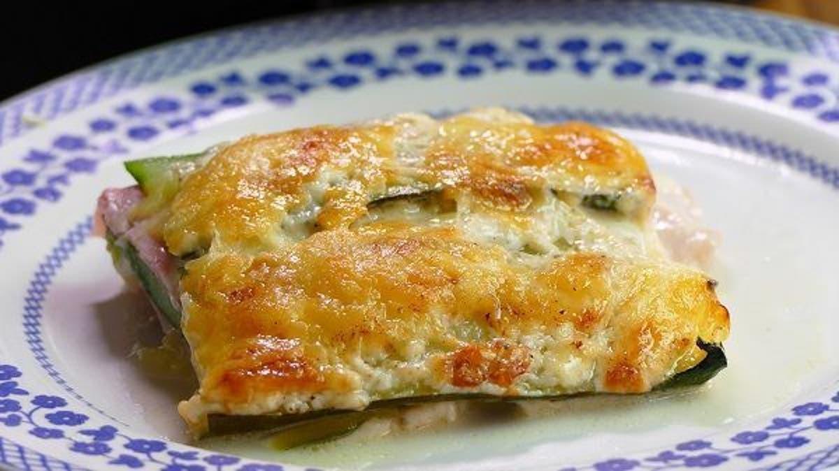 Lasaña jamon y queso - Receta de Lasaña de Calabaza con Jamón y Queso
