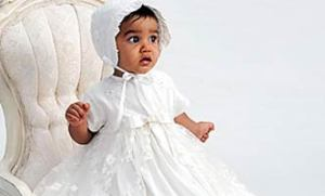 Baby Girl Christening Gown & Bonnet