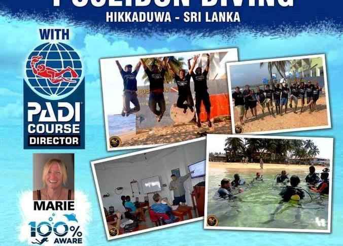 PADI Open Water scuba dive certification – Poseidon Dive Station Hikkaduwa Sri Lanka