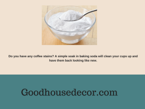 clean coffee stain by baking soda