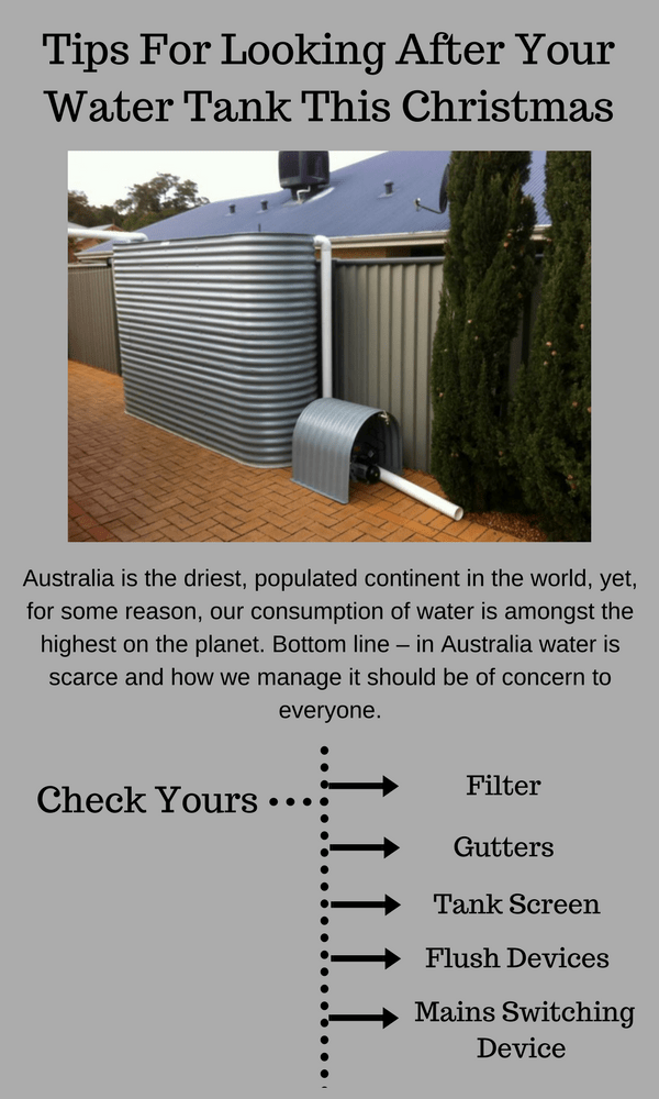 Tips For Looking After Your Sydney Water Tank This Christmas