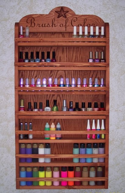 Your Very Own Nail Polish Rack Super Clever Huh