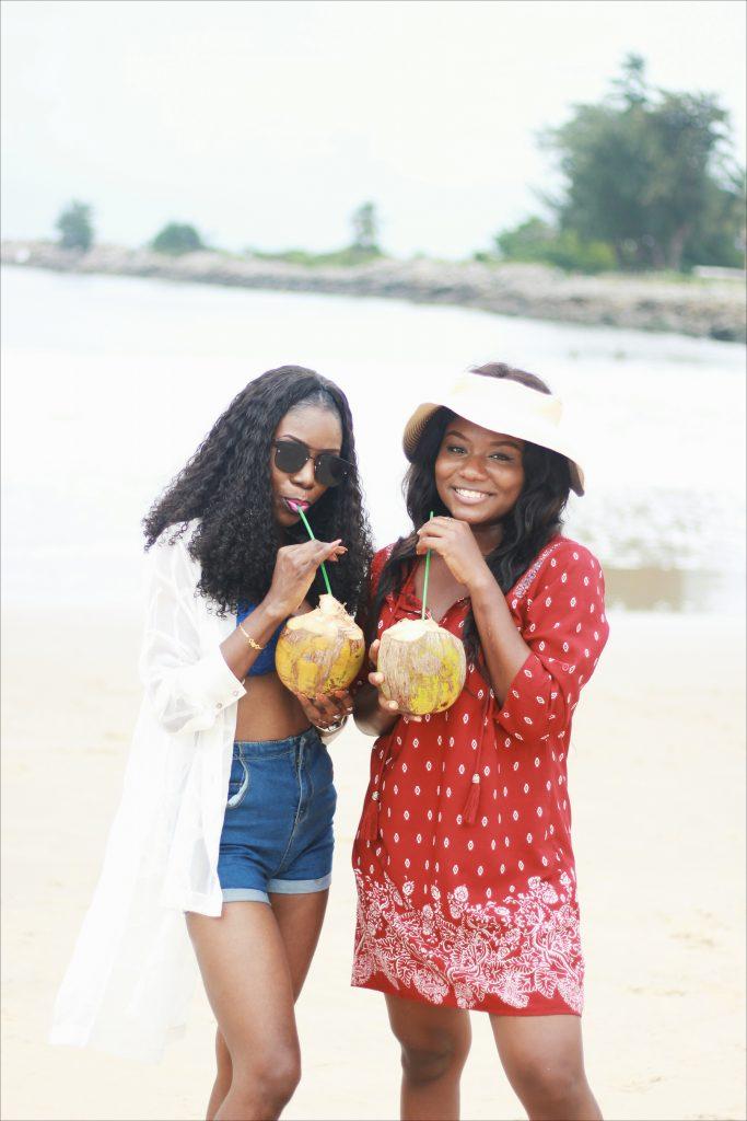 me and a friend at tarkwa bay lagos