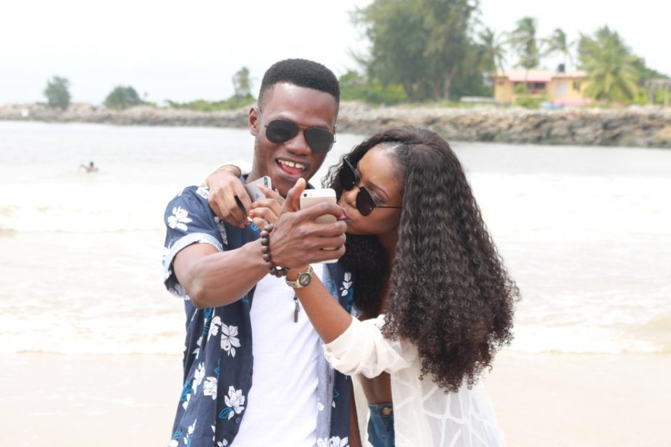 cute couple at tarkwa bay