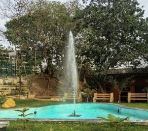 Water fountain at Central Park abuja