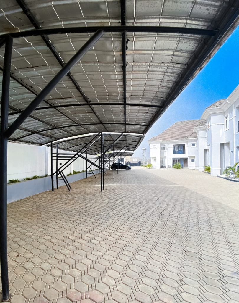 Parking lot at whytescape serviced apartments