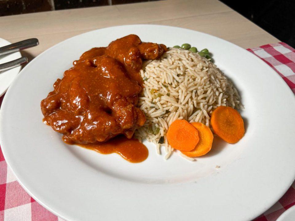 main course at cantina restaurant abuja