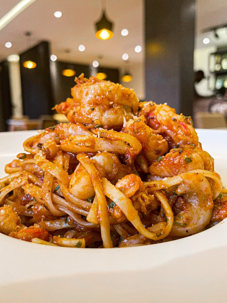 seafood pasta at essence by the grid