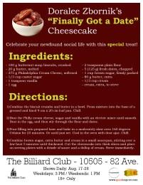 """Doralee's """"Finally Got A Date"""" Cheesecake Recipe"""