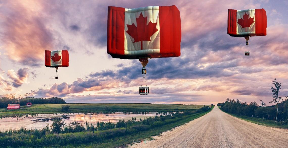 Alberta-Landscape oil balloons