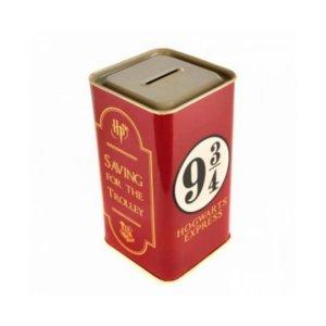 Tirelire métal Harry potter «VOIE 9 3/4»
