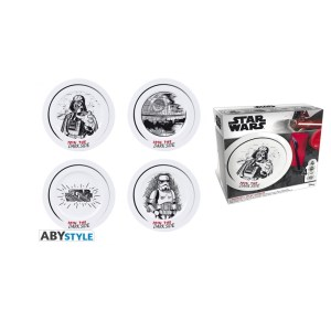 Assiettes porcelaine STAR WARS lot de 4