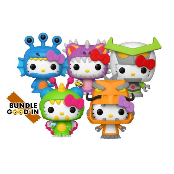 Figurine Funko Pop Bundle 5 pop «Hello Kitty Kaiju»