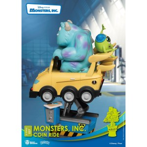 Figurine Diorama Disney SULLY & BOB COIN RIDE