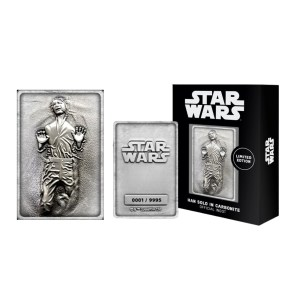 "Lingot Métal Star Wars ""Han Solo Carbonite"" collector"