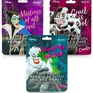Set de 3 Masques pour le visage Disney Villains