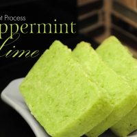 Rustic Peppermint Lime Hot Process Soap Recipe with Parsley