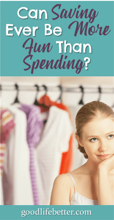 Much to my suprise, in getting out of debt, I became a saver instead of a spender! #SavingMoney #SpendingMoney #GoodLifeBetter