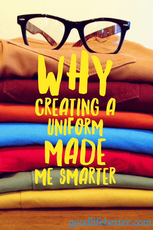 Creating a work uniform made my life so much easier.  Check out my story!