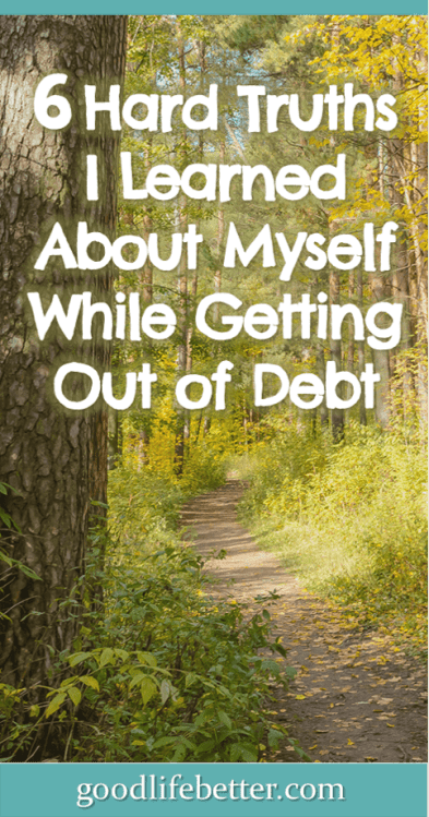 Being aware of why I overspend was so important to getting--and hopefully staying--out of debt. #DebtFree #Budgeting #MoneyLessons #GoodLifeBetter