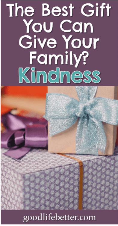It is easy to get caught up in buying stuff for your loved one but being kind and being present is way more prescious. #Family #BeingKind #GoodLifeBetter