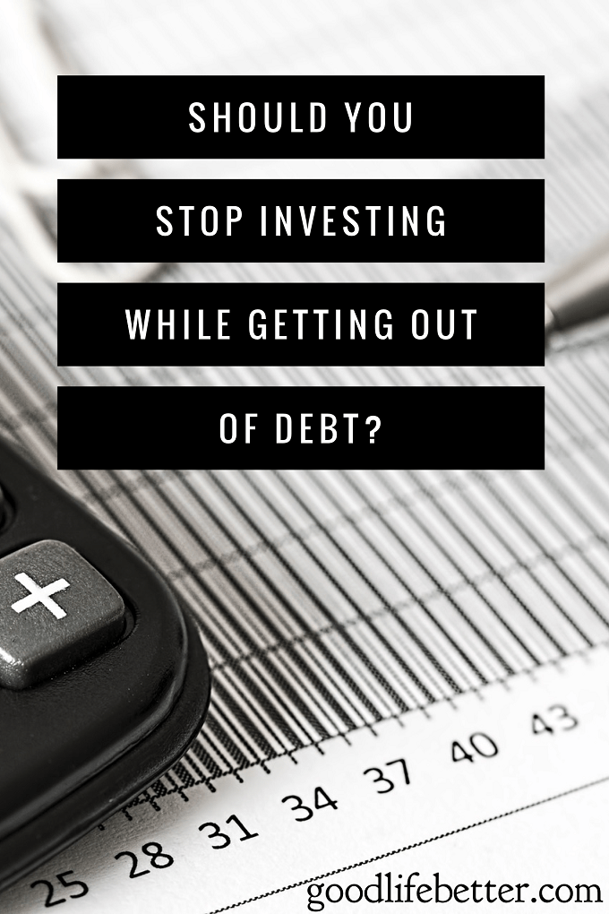 Should you invest while getting out of debt?  Continuing to invest during my debt free journey was the best decision for me and it may be for you too.