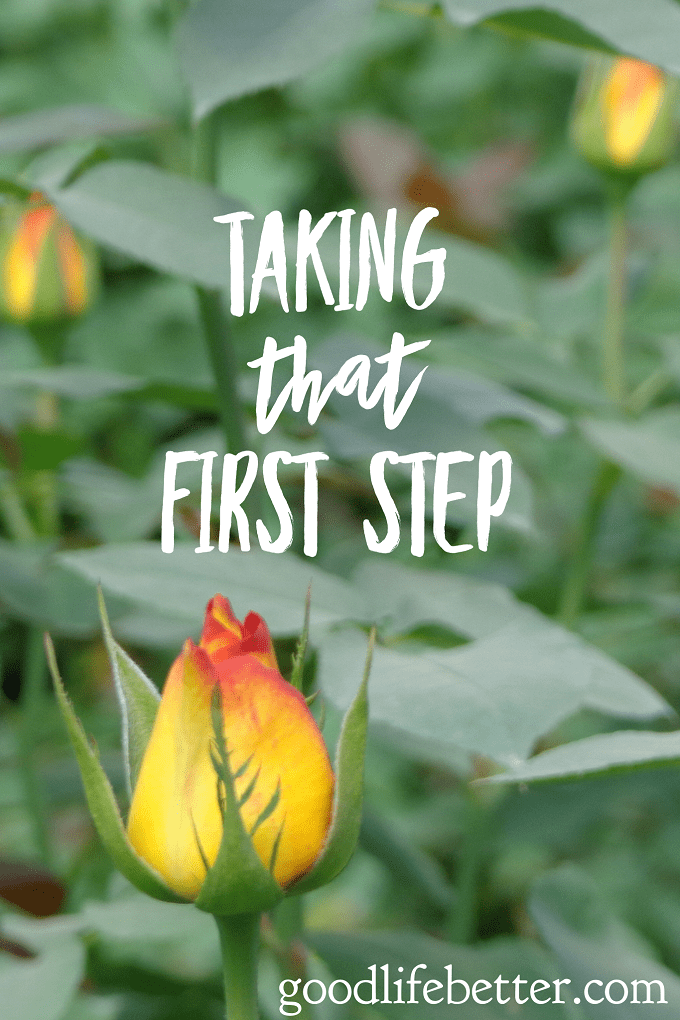 Taking that first step to regaining control of your life--your money, health, career--isn't easy but it is so worth it (and the second step is easier!)