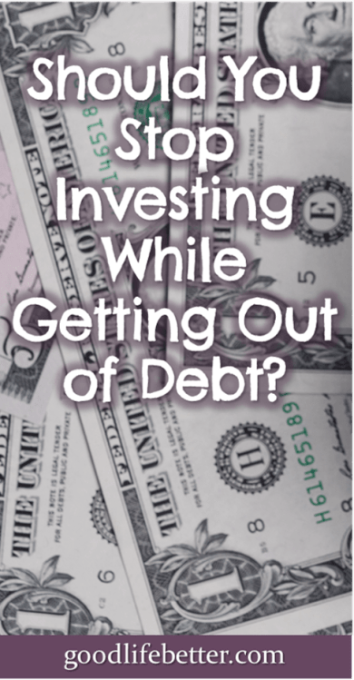 During my debt snowball, I kept investing because it was the right decision for me. Learn why here! #DebtSnowball #Investing