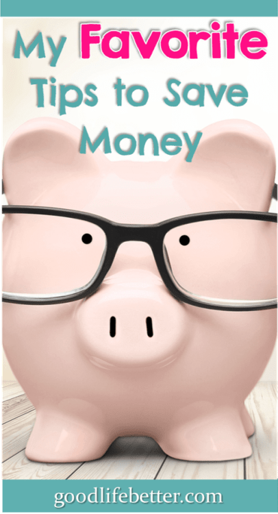 Want to increase your savings rate? Read my favorite tips for saving money! #SavingMoneyTips